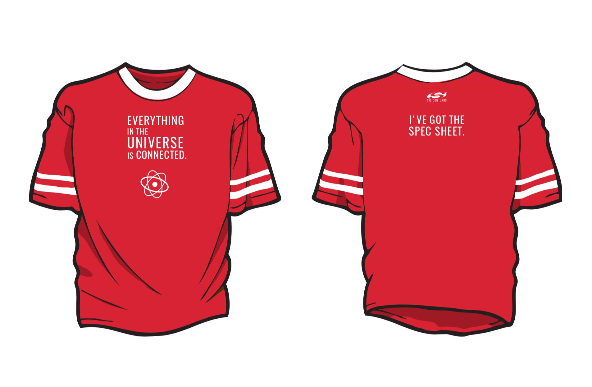 spec sheet t-shirt