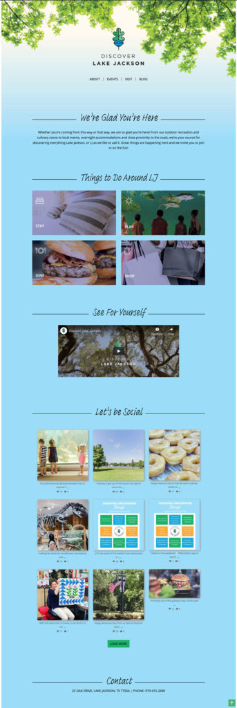 discover lake jackson home page
