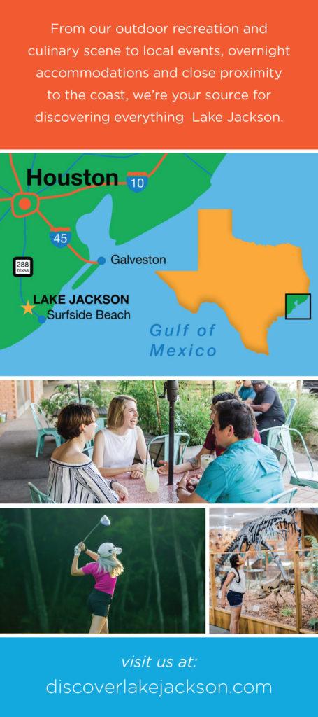 lake jackson promotional rack card back